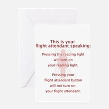Turned On Flight Attendant Greeting Card