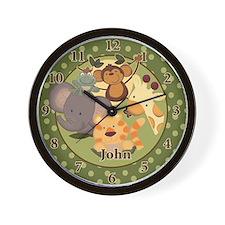 """Jungle Safari Wall Clock - """"John"""""""