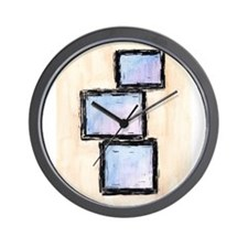 3 Box Abstract 2 Wall Clock