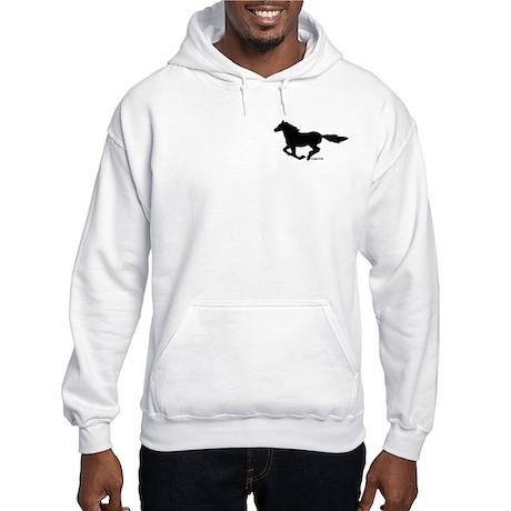 Horse (black) Hooded Sweatshirt