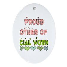Social Worker III Ornament (Oval)