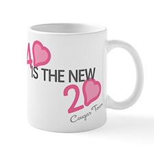 Heart 40 is the New 20 Mug