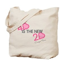 Heart 40 is the New 20 Tote Bag