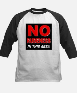 No Rudeness Kids Baseball Jersey