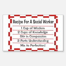 Social Worker II Sticker (Rectangle 10 pk)