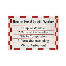 Social Worker II Rectangle Magnet (100 pack)