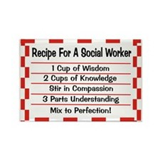 Social Worker II Rectangle Magnet