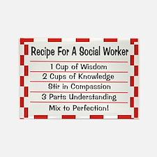 Social Worker II Rectangle Magnet