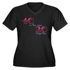 Twenty is the New Forty Women's Plus Size V-Neck D