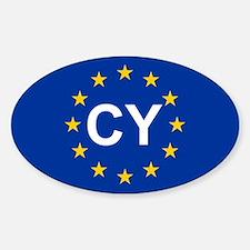 EU Cyprus Sticker (Oval)