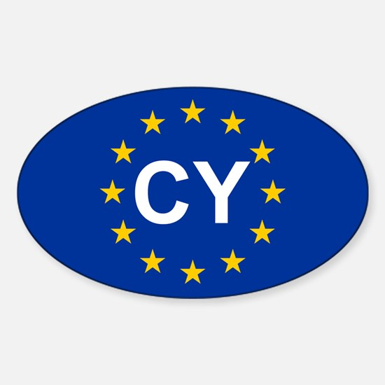 EU Cyprus Sticker (Oval)