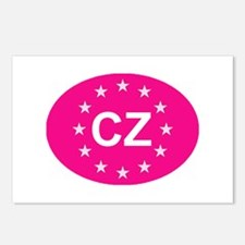 EU Pink Czech Republic Postcards (Package of 8)