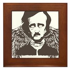 Edgar Poe Goth Crow Framed Tile