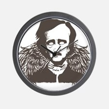Edgar Poe Goth Crow Wall Clock