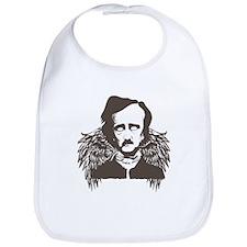 Edgar Poe Goth Crow Bib