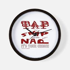 TAP SNAP OR NAP Wall Clock