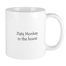 Data Monkey in the house Small Mug