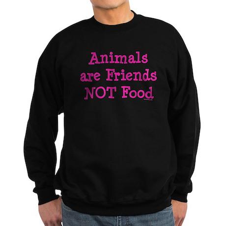 Animals are Friends Not Food Sweatshirt (dark)