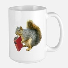 Squirrel with Book Large Mug