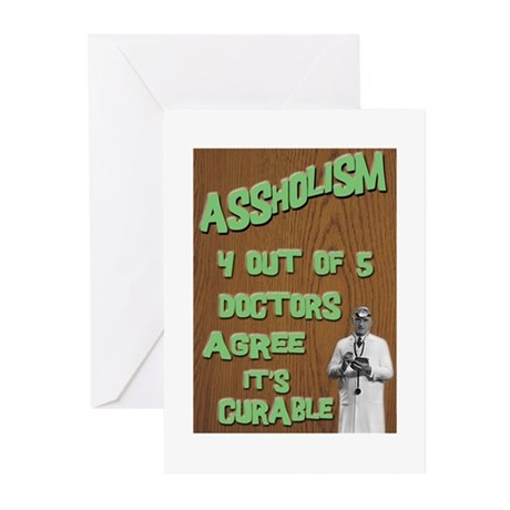Assholism Greeting Cards (Pk of 20)