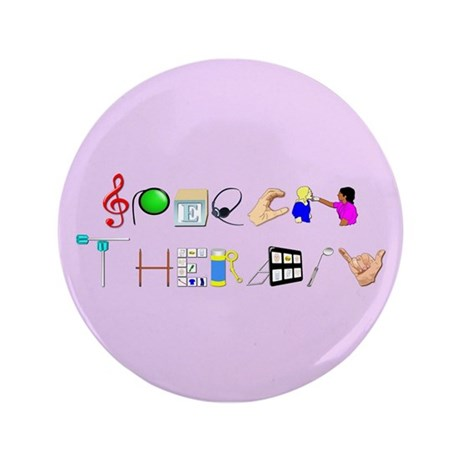 "Speech Therapy 3.5"" Button"