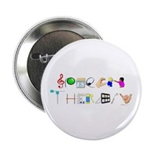 """Speech Therapy 2.25"""" Button"""