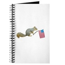 Squirrel with American Flag Journal