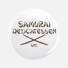 "Samurai Delicatessen 3.5"" Button"