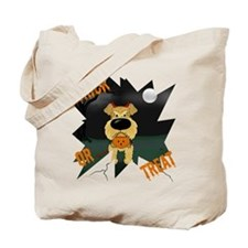 Airedale Devil Halloween Tote Bag