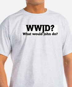 What would John do? Ash Grey T-Shirt