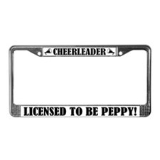 Cheerleader Licensed to Be Peppy License Frame