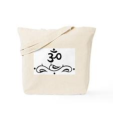 OM - Black Vine Tote Bag