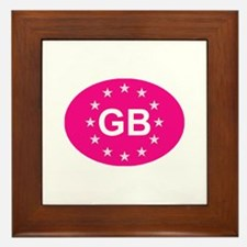 EU Pink UK Framed Tile