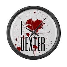 I Heart Dexter Large Wall Clock
