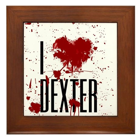 I Heart Dexter Framed Tile