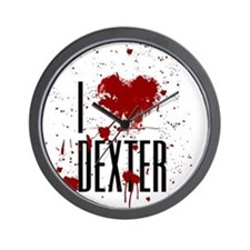 I Heart Dexter Wall Clock