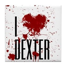 I Heart Dexter Tile Coaster