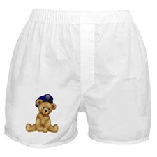 Police Officer Teddy Bear Boxer Shorts