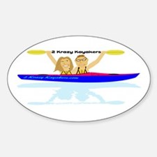 2 Krazy Kayakers Decal