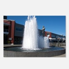 Man in Water Fountain Postcards (Package of 8)
