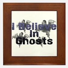 I Believe In Ghosts Framed Tile