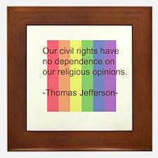 Cute Ban gay bashing gay marriage Framed Tile