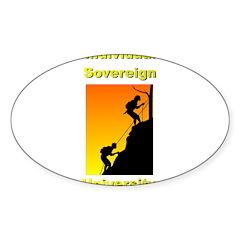 IndSovU Sticker (Oval 50 pk)