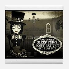 Unique Gothic girl Tile Coaster