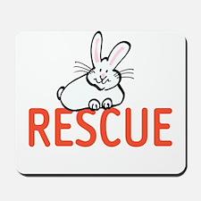 cute bunny RESCUE Mousepad