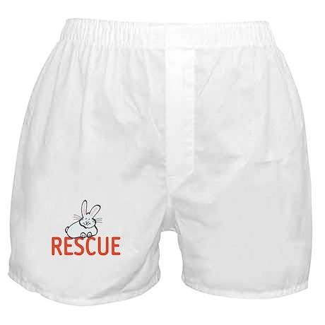 cute bunny RESCUE Boxer Shorts