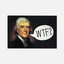 Jefferson - WTF Rectangle Magnet