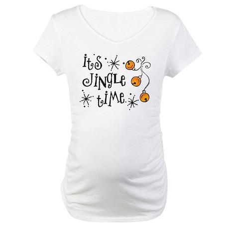 Jingle Time Maternity T-Shirt