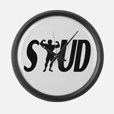 Stud Muscles Large Wall Clock