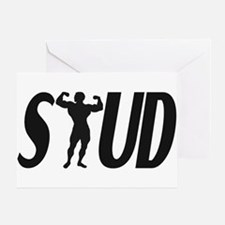 Stud Muscles Greeting Card